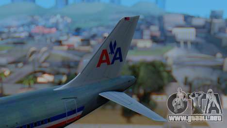 Airbus A320-200 American Airlines (Old Livery) para GTA San Andreas vista posterior izquierda
