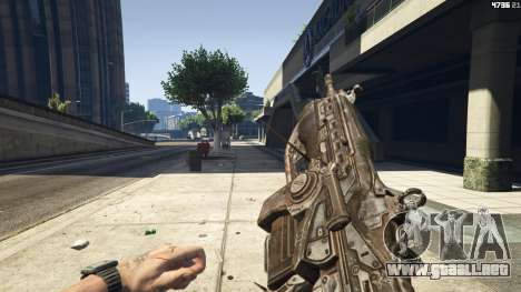GTA 5 Gears of War Lancer 1.0.0 cuarto captura de pantalla