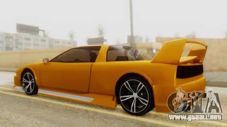 Infernus BMW Revolution with Spoiler para GTA San Andreas vista posterior izquierda