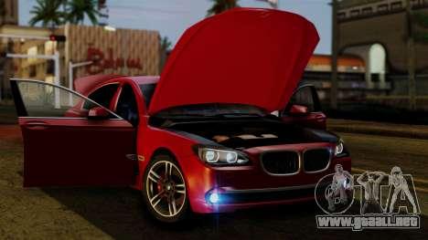 BMW 7 Series F02 2013 para la vista superior GTA San Andreas