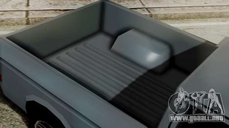 Bobcat New Edition para GTA San Andreas vista posterior izquierda