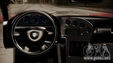 GTA 5 Grotti Turismo R IVF para GTA San Andreas vista hacia atrás