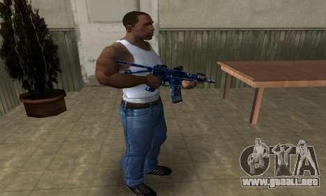 Blue Life M4 para GTA San Andreas tercera pantalla