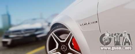Mercedes-Benz C63 AMG 2013 para visión interna GTA San Andreas
