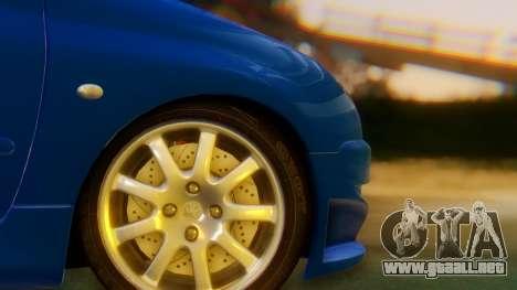 Peugeot 206 Full Tuning para GTA San Andreas vista posterior izquierda