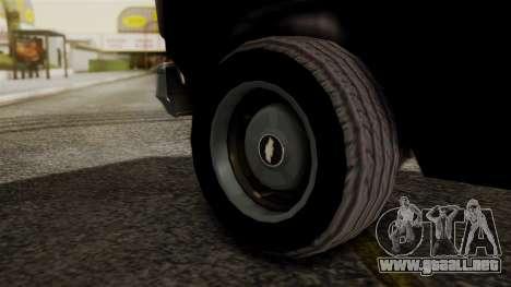 Chevrolet Chevy Van G20 Paraguay Police para GTA San Andreas vista posterior izquierda