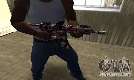 M4 Rojo Camo para GTA San Andreas segunda pantalla