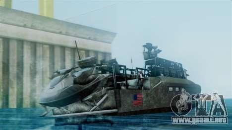 CB90-Class Fast Assault Craft BF4 para GTA San Andreas left