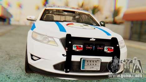 Ford Taurus Iraq Police v2 para la visión correcta GTA San Andreas