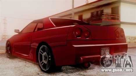 Nissan Skyline R34 SA Style para GTA San Andreas left