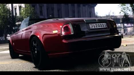 Rolls-Royce Phantom 2009 Coupe v1.0 para GTA 4 Vista posterior izquierda