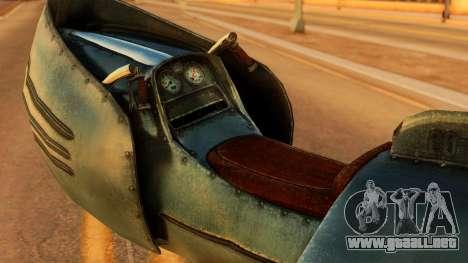 20-X Automatic para GTA San Andreas vista posterior izquierda