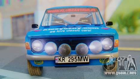 Zastava 1100P Rally para GTA San Andreas vista hacia atrás