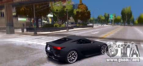 Lexus LF-A 2010 [EPM] para GTA 4 left