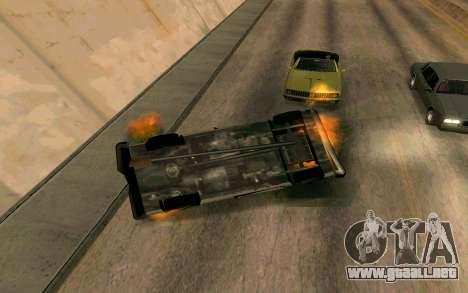 Burning car mod from GTA 4 para GTA San Andreas sucesivamente de pantalla