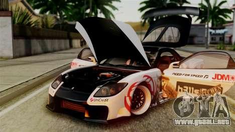 Mazda RX-7 Veilside Mugi Itasha para visión interna GTA San Andreas