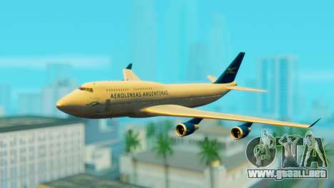 Boeing 747 Argentina Airlines para GTA San Andreas