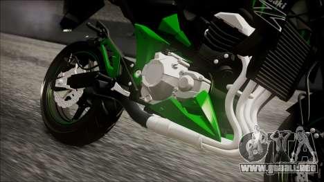Kawasaki Z800 Monster Energy para la visión correcta GTA San Andreas