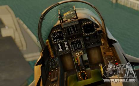 FA-18F Super Hornet BF4 para GTA San Andreas vista hacia atrás