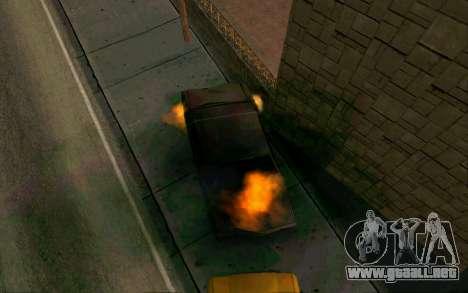 Burning car mod from GTA 4 para GTA San Andreas segunda pantalla