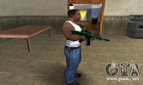 Full Green M4 para GTA San Andreas tercera pantalla