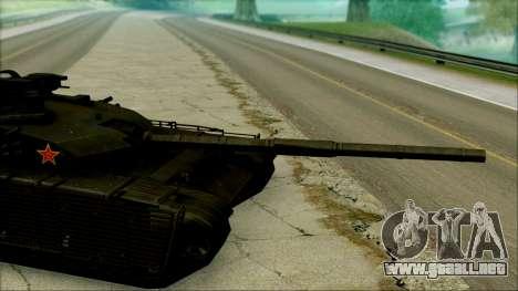 Type 99 BF4 para GTA San Andreas vista posterior izquierda
