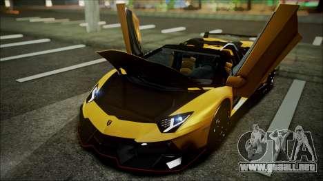 Lamborghini Veneno LP700-4 AVSM Roadster Version para visión interna GTA San Andreas