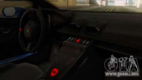 Lamborghini Huracan 2015 para la visión correcta GTA San Andreas