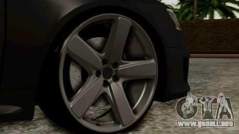 Audi RS6 Civil Drag Version para GTA San Andreas vista posterior izquierda