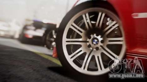 BMW M3 GTR Street Edition para GTA San Andreas vista hacia atrás