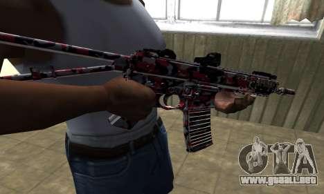 M4 Rojo Camo para GTA San Andreas