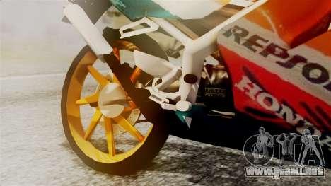 Honda NSR 150 SP para la visión correcta GTA San Andreas