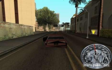 Hierro velocímetro para GTA San Andreas segunda pantalla