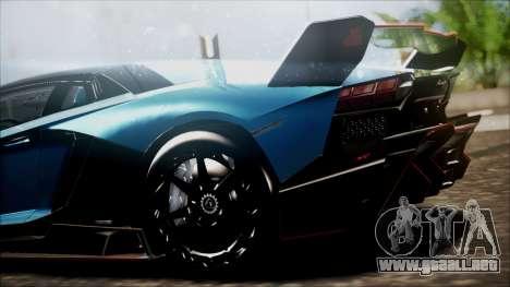 Lamborghini Veneno LP700-4 AVSM para GTA San Andreas vista posterior izquierda