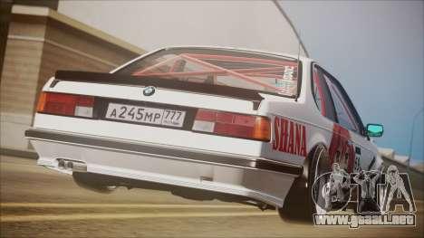 BMW E24 Shakugan No Shana Itasha para GTA San Andreas left
