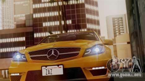 Mercedes-Benz C63 AMG 2015 Edition One para GTA San Andreas interior