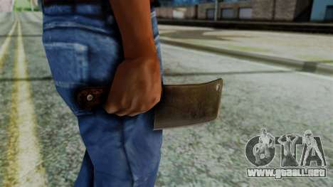 Cleaver from Silent Hill Downpour para GTA San Andreas tercera pantalla