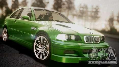 BMW M3 GTR Street Edition para vista inferior GTA San Andreas