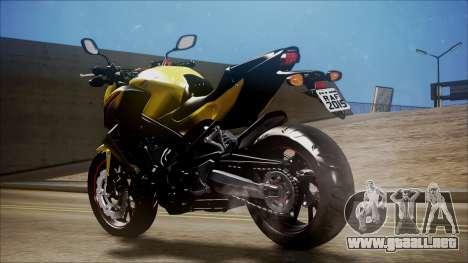 Honda CB650F Amarela para GTA San Andreas left