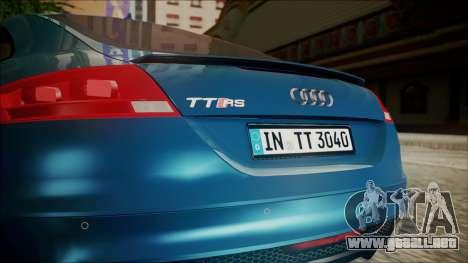 Audi TT RS 2011 v3 para GTA San Andreas vista hacia atrás