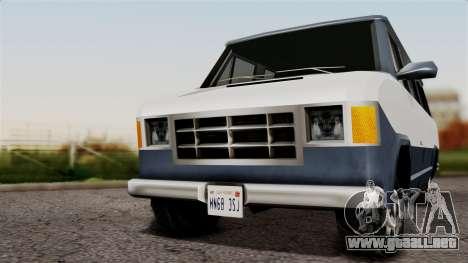 El Passa Van para GTA San Andreas vista posterior izquierda