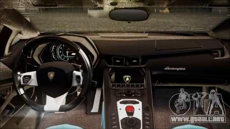 Lamborghini Veneno LP700-4 AVSM para GTA San Andreas vista hacia atrás