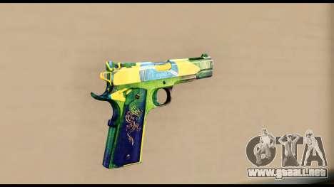 Brasileiro Pistol para GTA San Andreas segunda pantalla