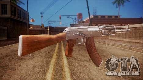 AK-47 v4 from Battlefield Hardline para GTA San Andreas segunda pantalla
