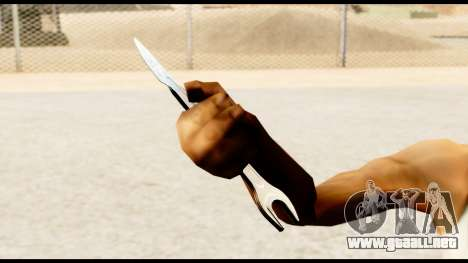 Llave-cuchillo para GTA San Andreas sucesivamente de pantalla