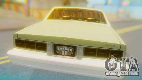 Chevrolet Caprice para GTA San Andreas vista hacia atrás