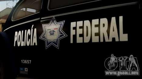 Volkswagen Beetle 1963 Policia Federal para la visión correcta GTA San Andreas