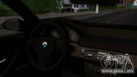 BMW 330i E46 YPX para GTA San Andreas vista posterior izquierda