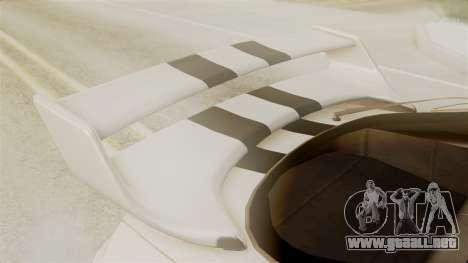 Toyota Supra Full Tuning para GTA San Andreas vista hacia atrás