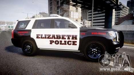 Chevrolet Tahoe 2015 Elizabeth Police [ELS] para GTA 4 left